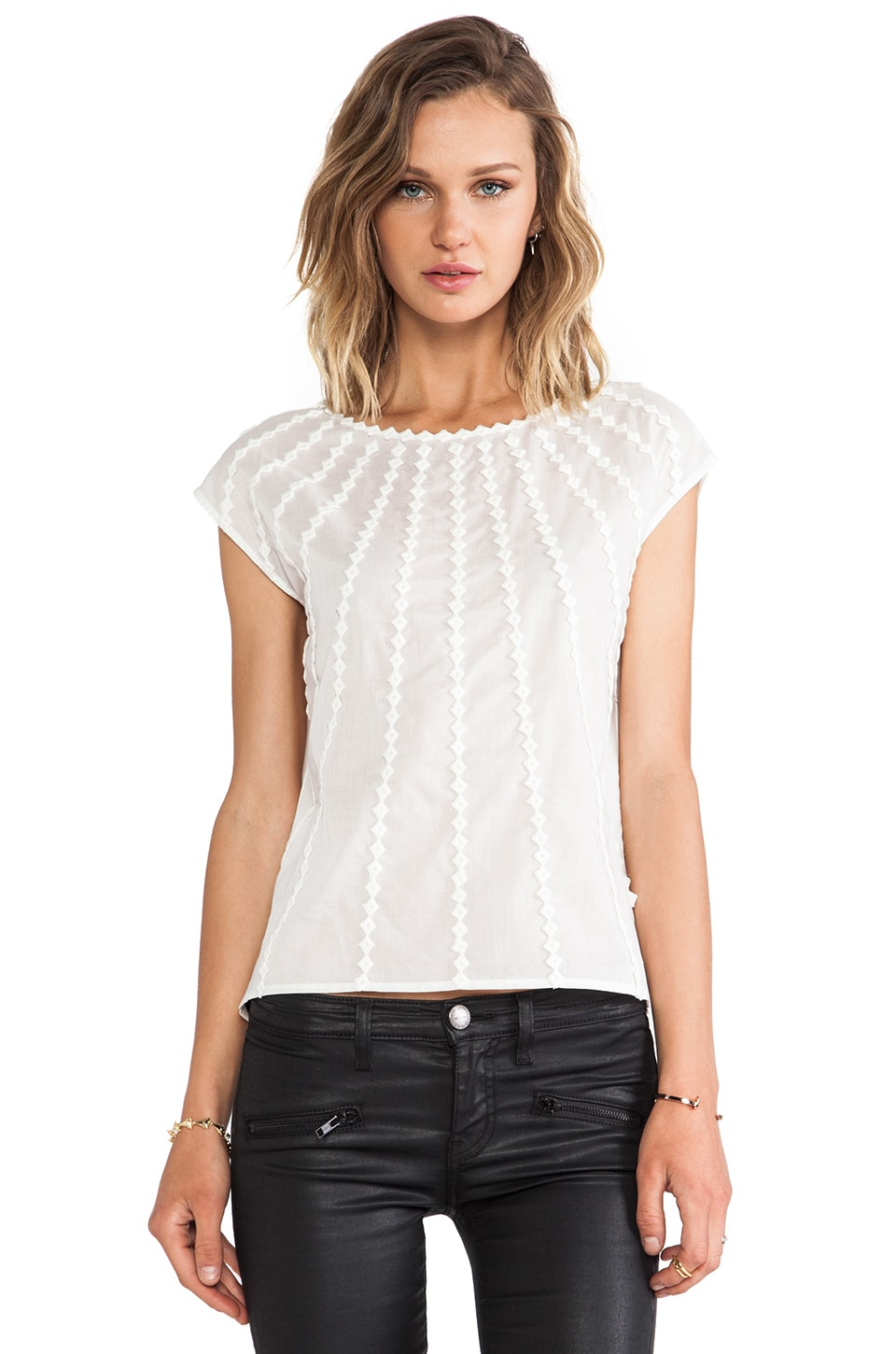 Halston Heritage Voile Top in White