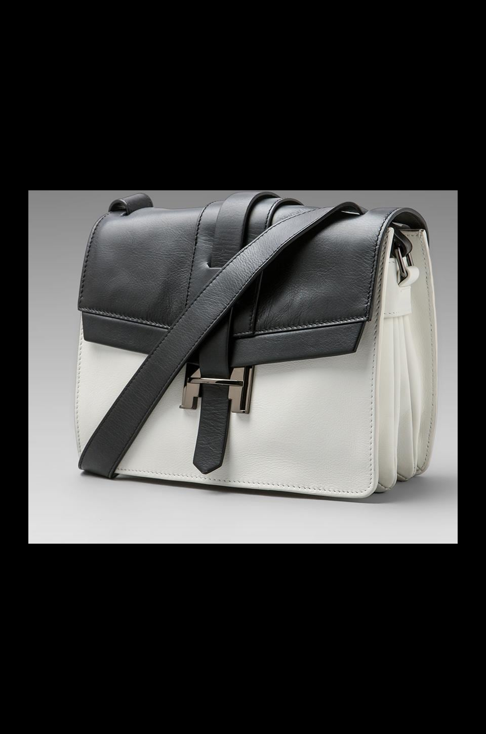 Halston Heritage Short Shoulder Bag in Black and White