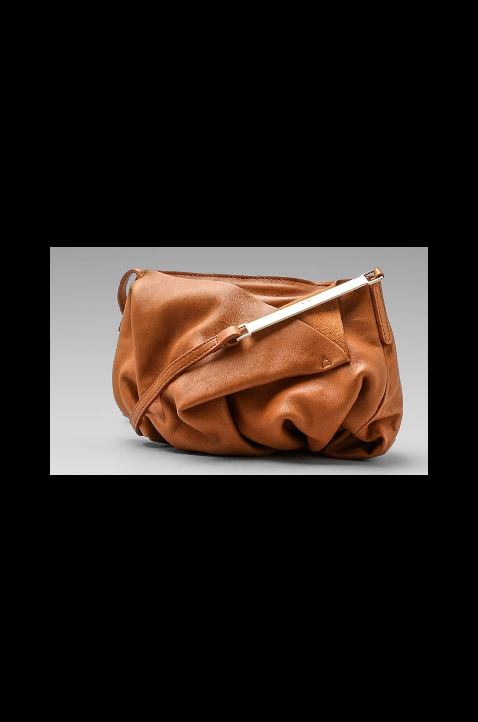 Halston Heritage Drape Short Shoulder Bag in Toffee