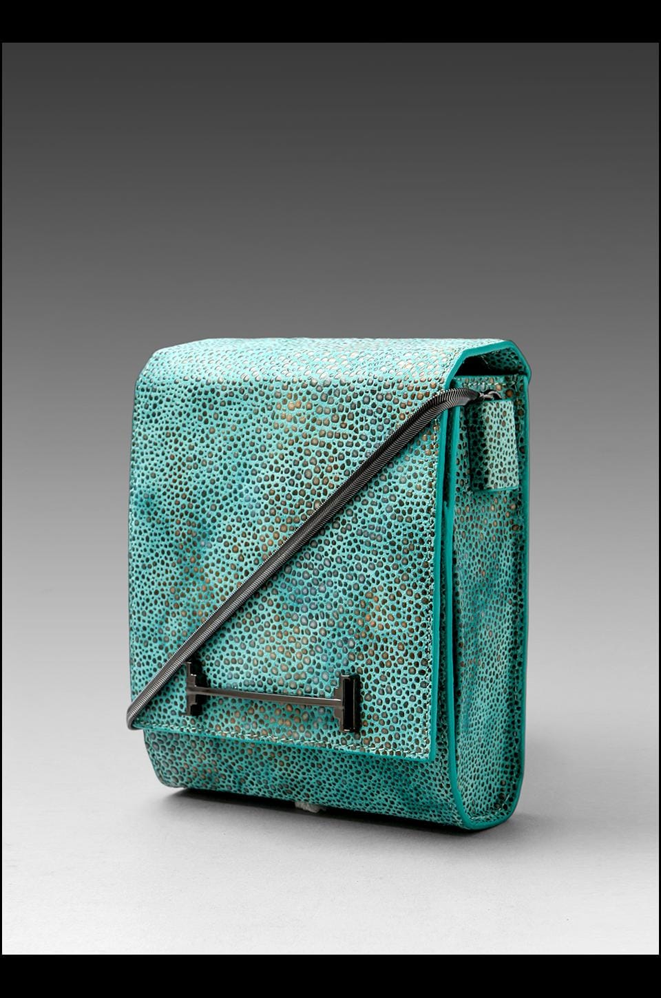Halston Heritage Small Box Shoulder Bag in Seafoam