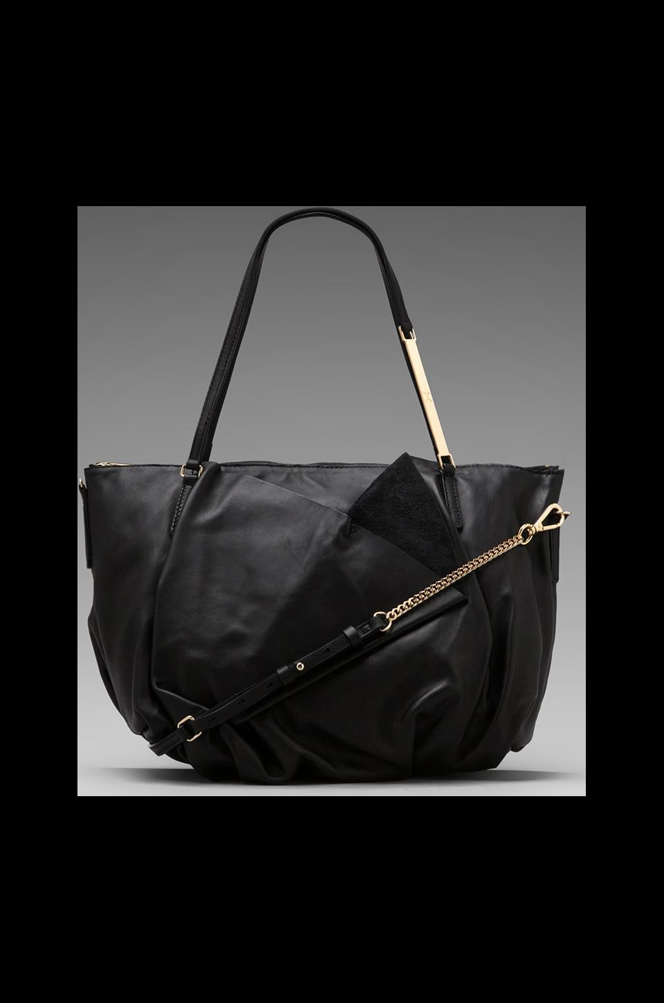 Halston Heritage Drop Satchel in Solid Core Black