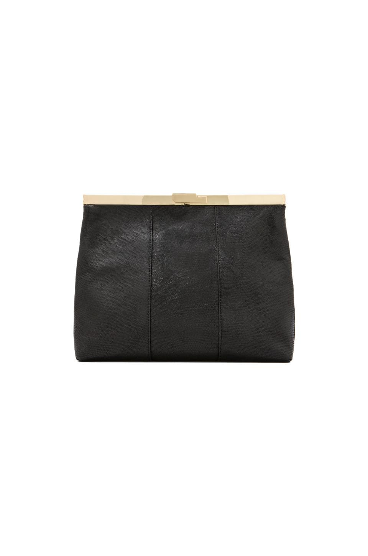Halston Heritage Foldover Frame Clutch in Black