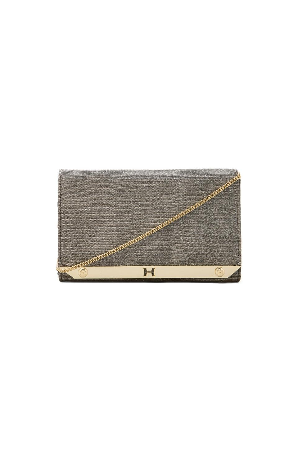 Halston Heritage Metal Frame Mini Clutch in Flint