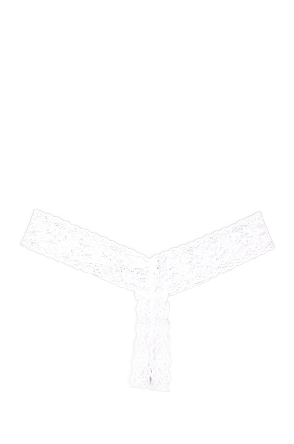 Hanky Panky AFTER MIDNIGHT Open Crotch Low Rise Thong in White