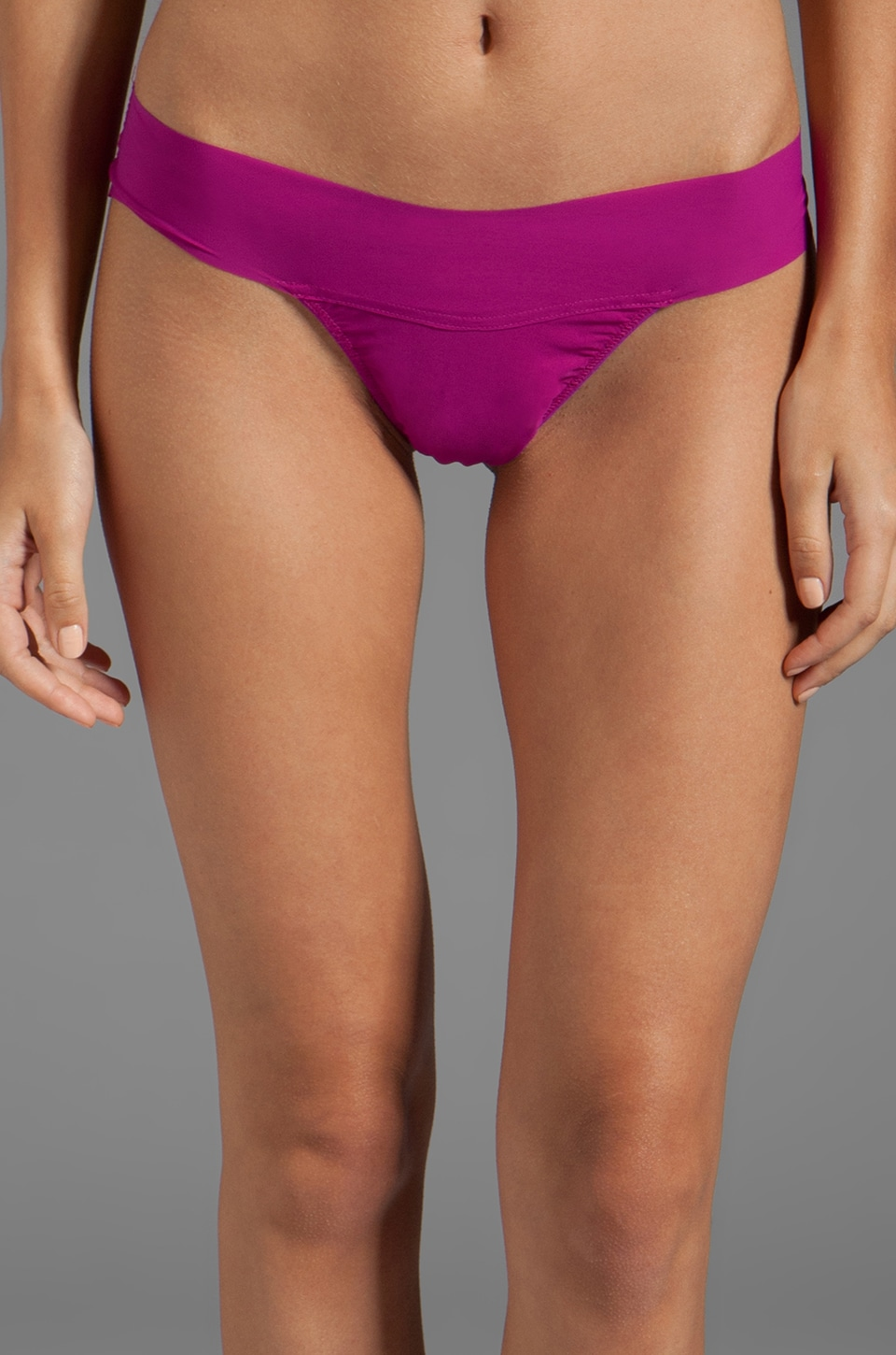 Hanky Panky 'Eve' Natural Rise Thong in Hot Fuchsia