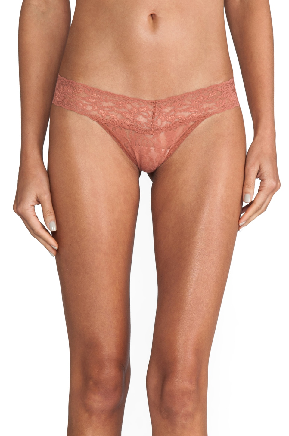 Hanky Panky Low Rise Thong in Rose Gold