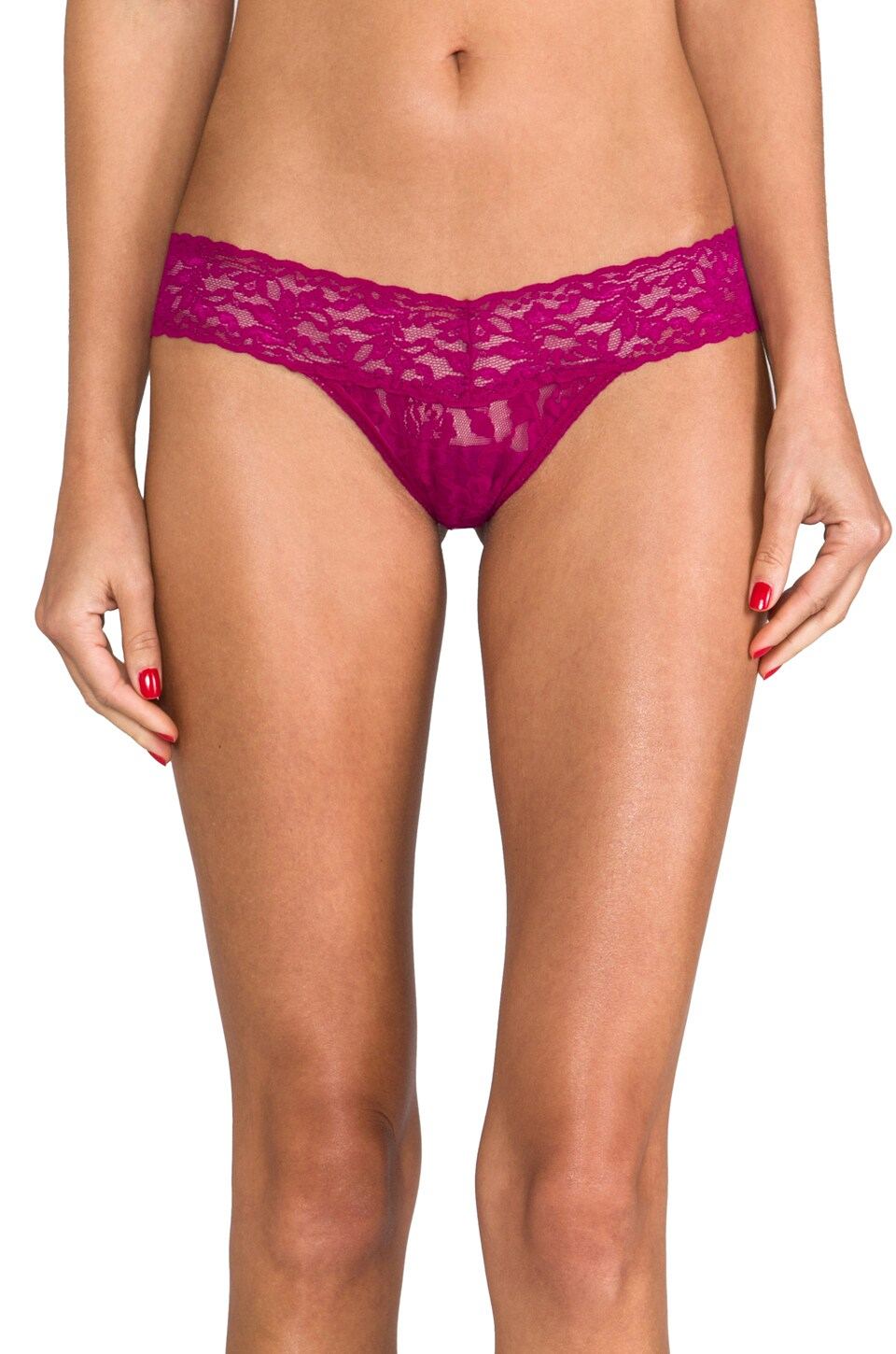 Hanky Panky Low Rise Thong in Beaujolais