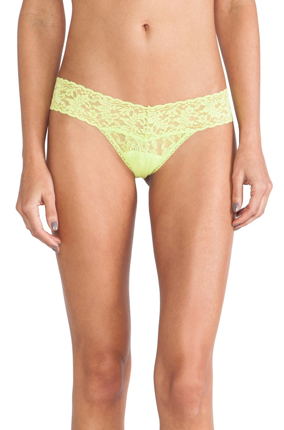 Hanky Panky Signature Lace Low Rise Thong in Key Lime Pie