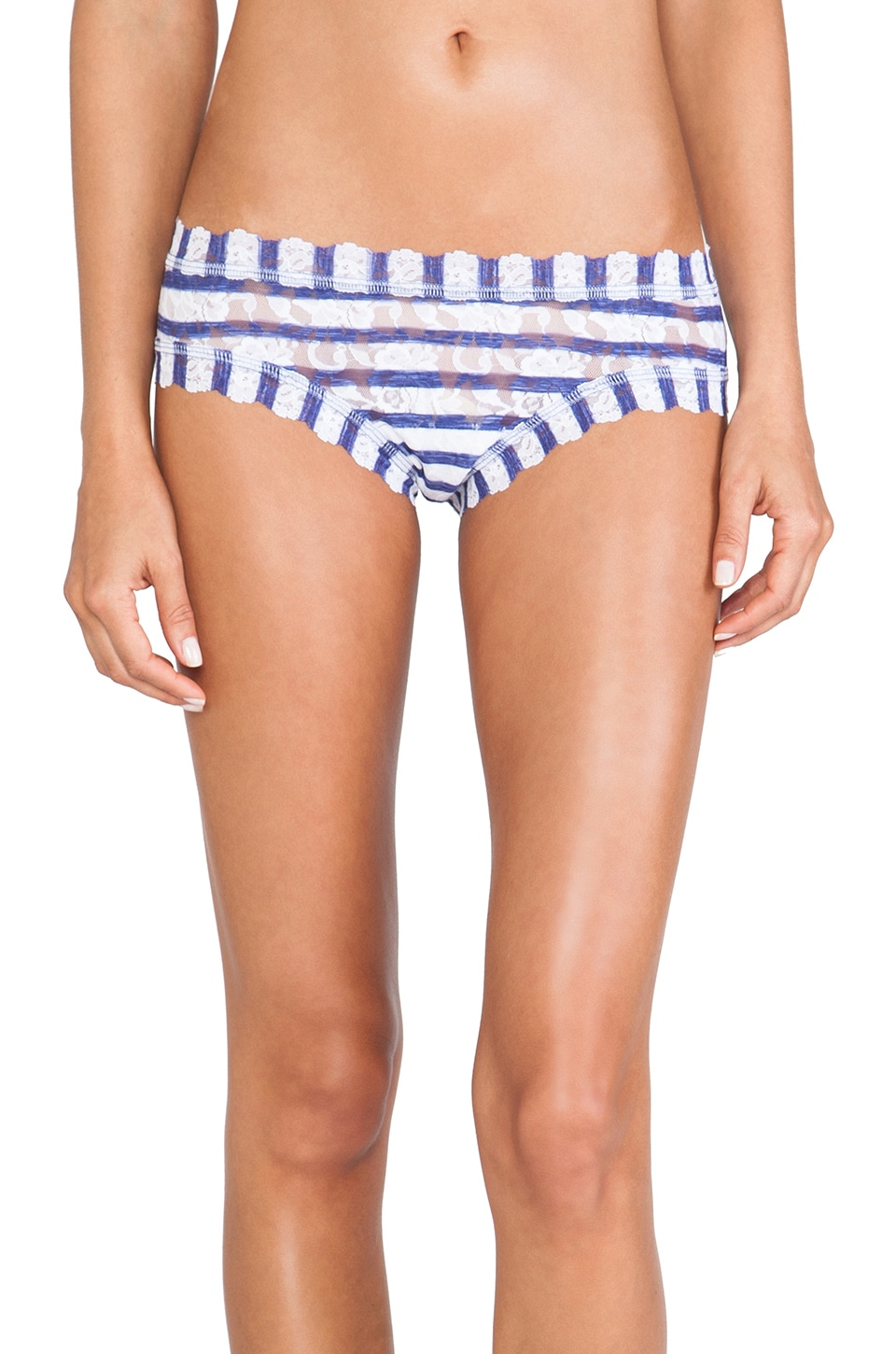 Hanky Panky Sailor Stripe Cheeky Hipster in White & Blue