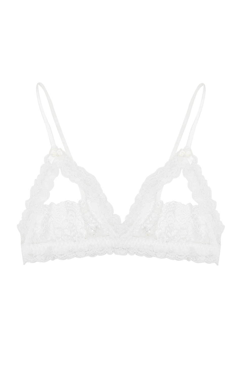 Hanky Panky Princess Lace Open Bralette in Ivory