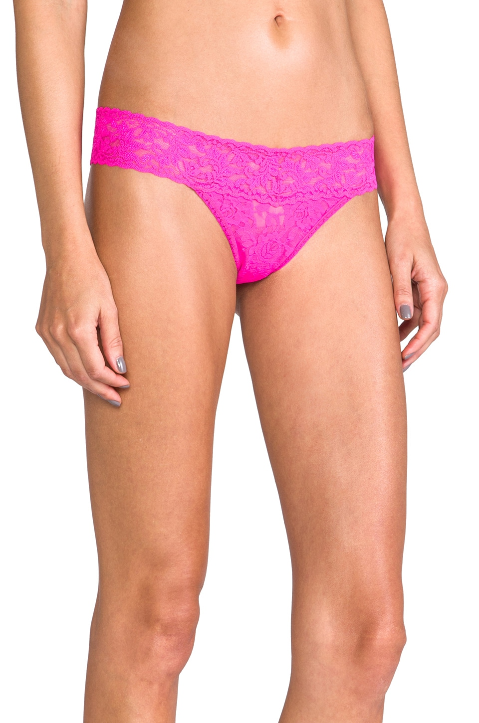 Hanky Panky Low Rise Thong in Passionate Pink