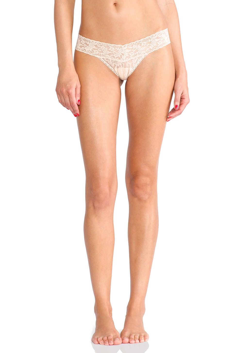 Hanky Panky Signature Lace Petite Low Rise Thong in Chai