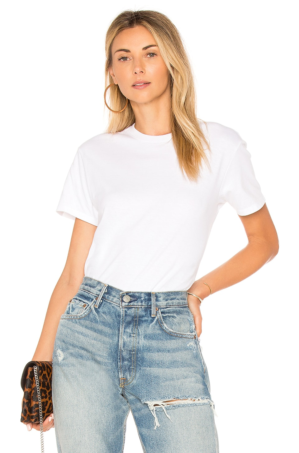 Hanes x Karla The Crew Tee in White