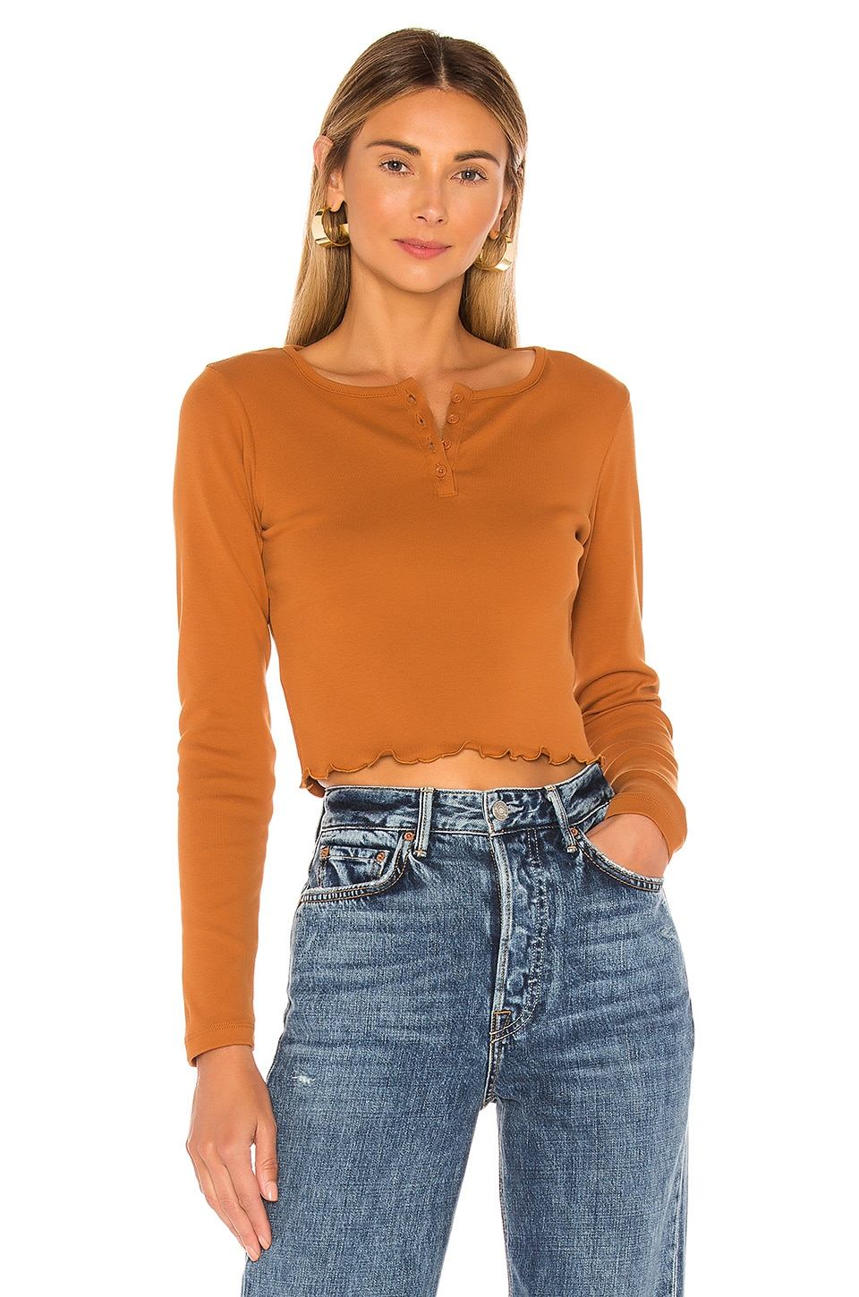 x karla T-SHIRT CROPPED THE CROP HENLEY