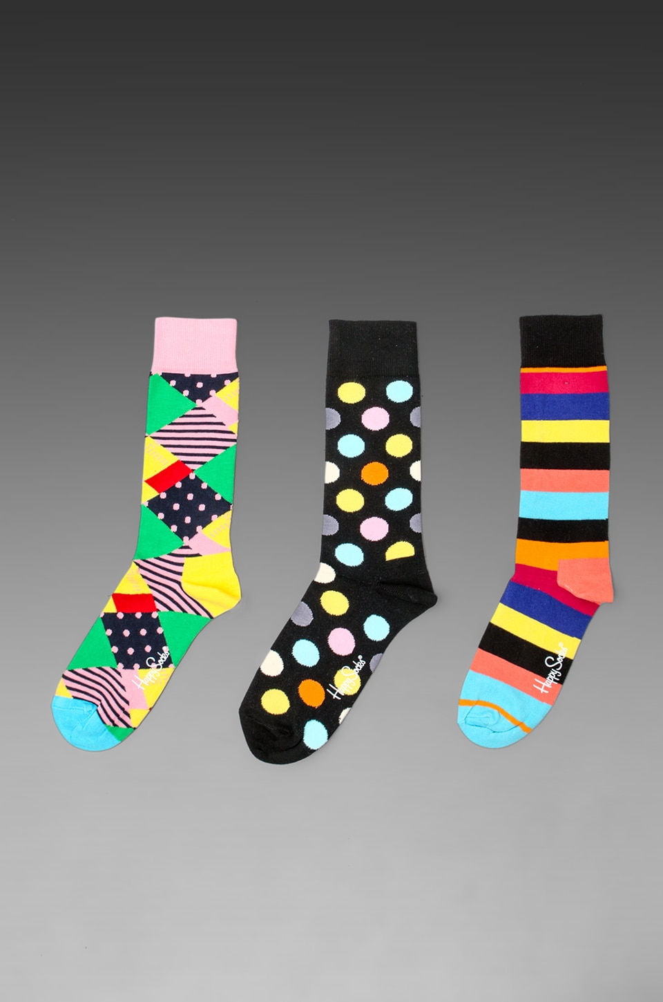 Happy Socks 3 Pack in Big Dot/Stripe/Multi