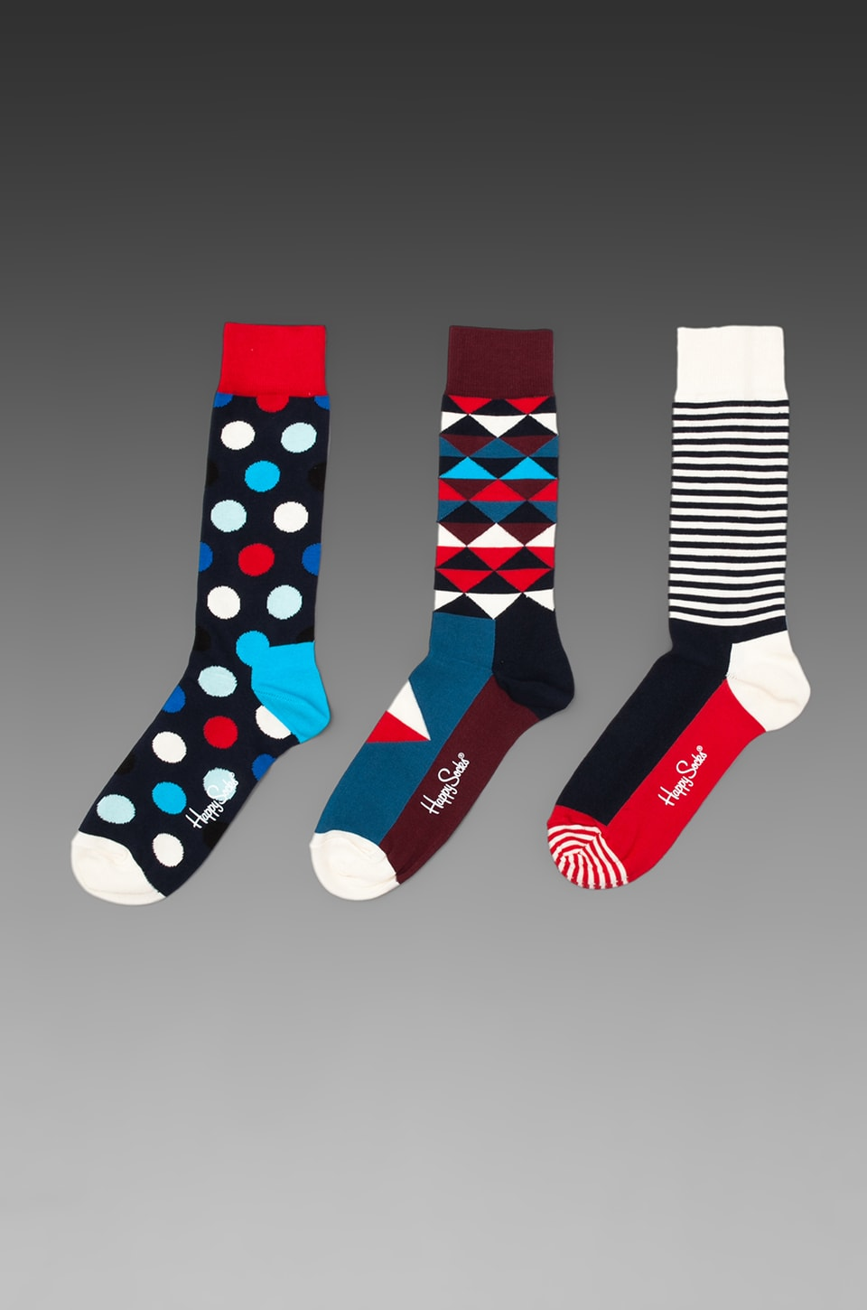 Happy Socks in Triangle/ Half Stripe/ Big Dot