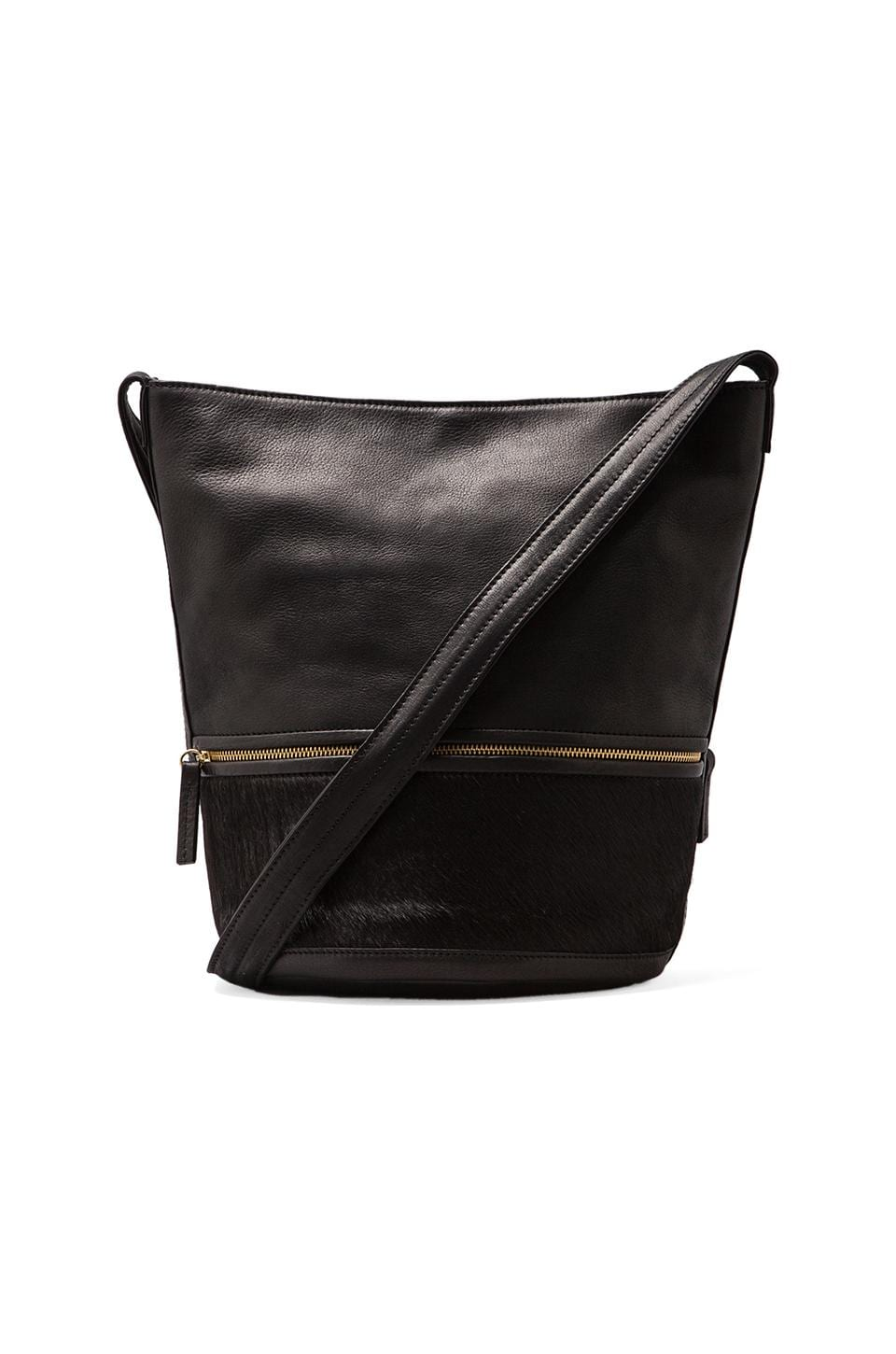 HARE + HART Small Bucket Bag in Black