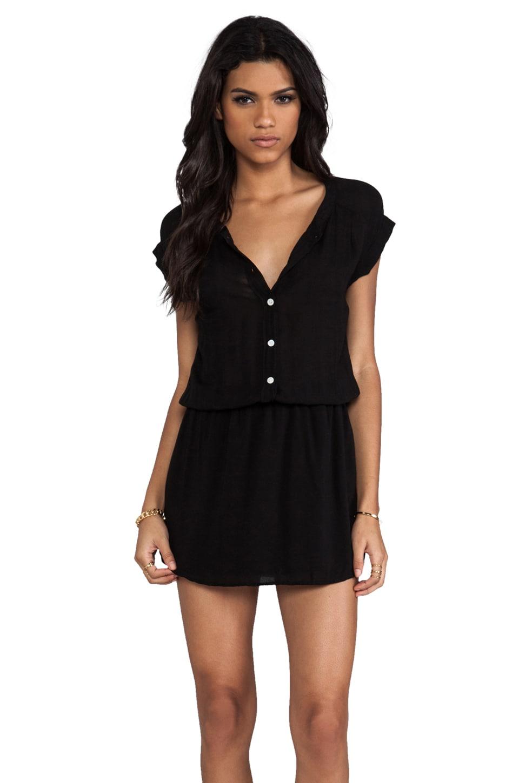 MONROW Basic Blouse Dress in Black