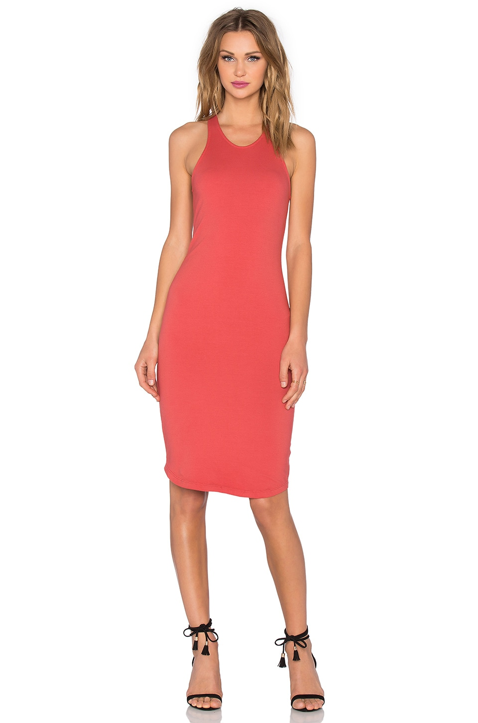 MONROW Sporty Tank Dress in Terracotta