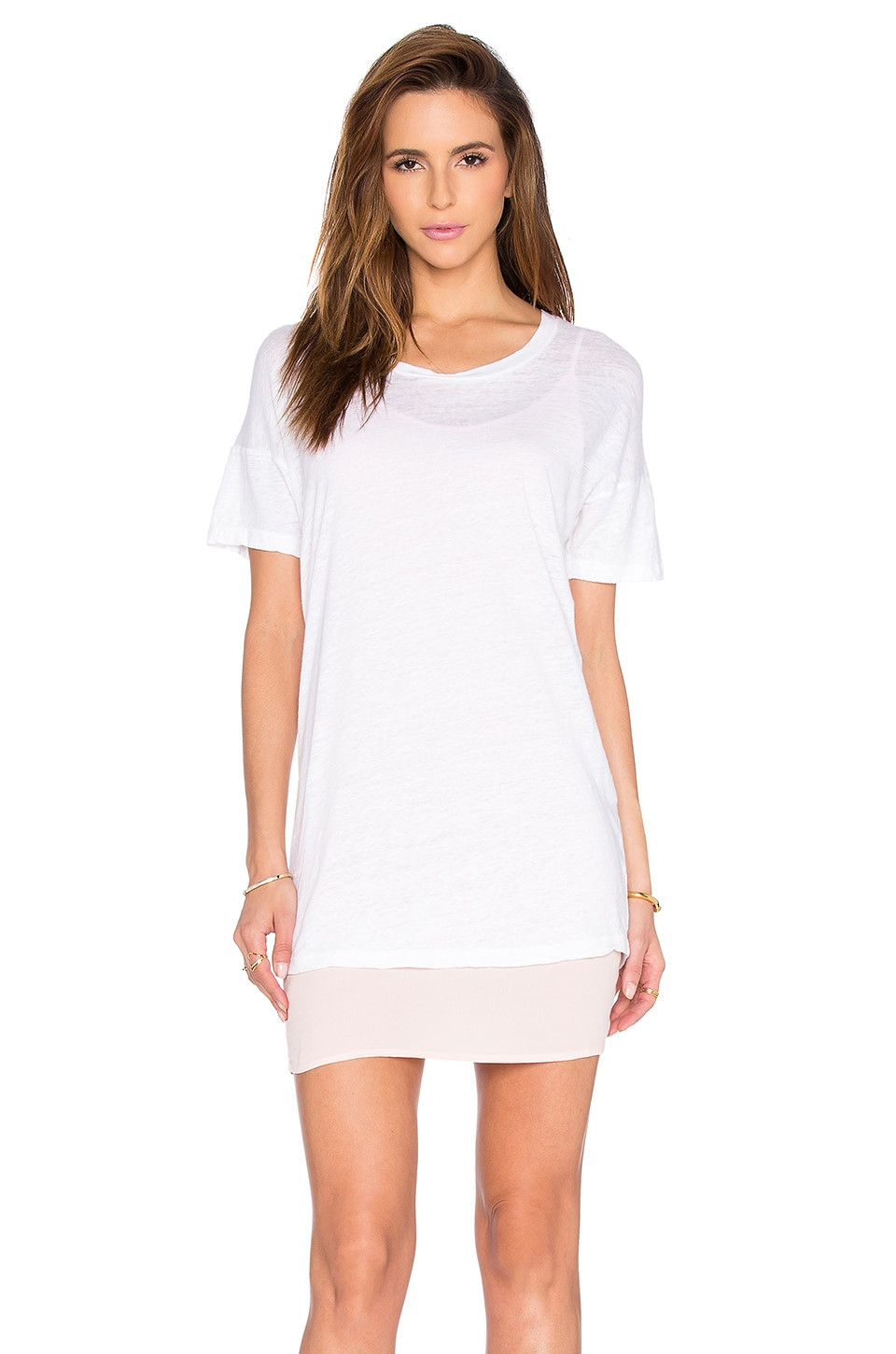 Double Layer Tee Shirt Dress by MONROW