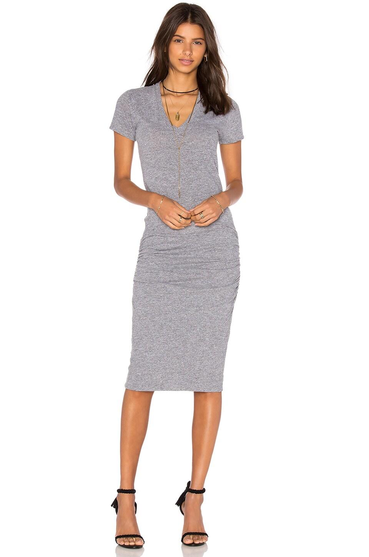 V-Neck Shirt Dress by MONROW