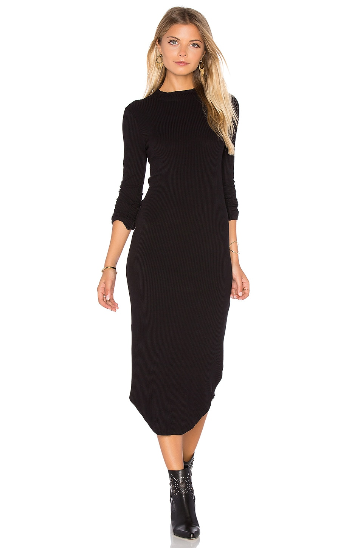 Mock Neck Long Sleeve Dress by MONROW