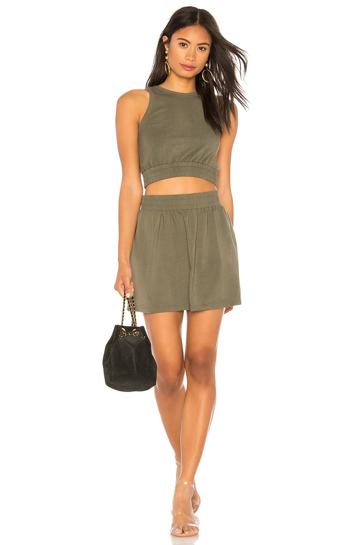 Double Elastic Slit Dress