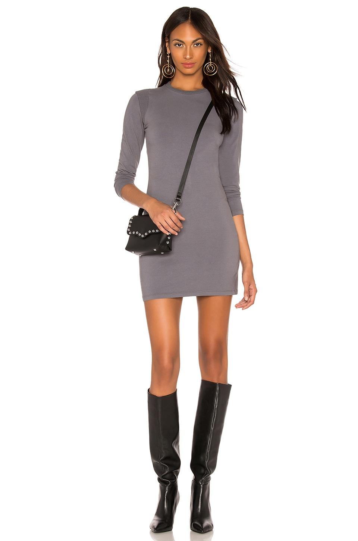 Moto Long Sleeve Mini Dress