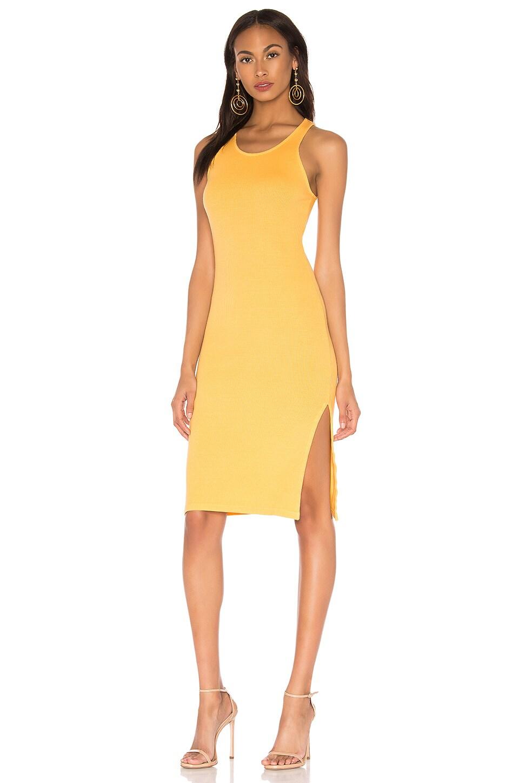 Rib Tank Dress with Side Slit