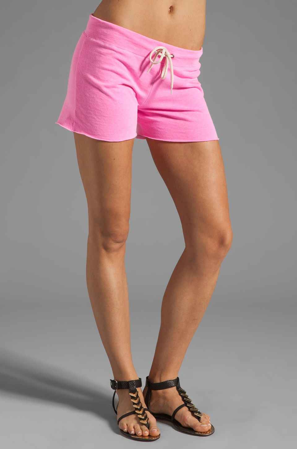 MONROW Vintage Shorts in Neon Pink