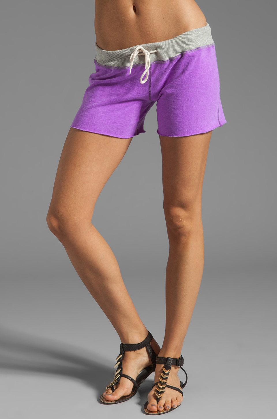 MONROW Vintage Shorts in Neon Violet