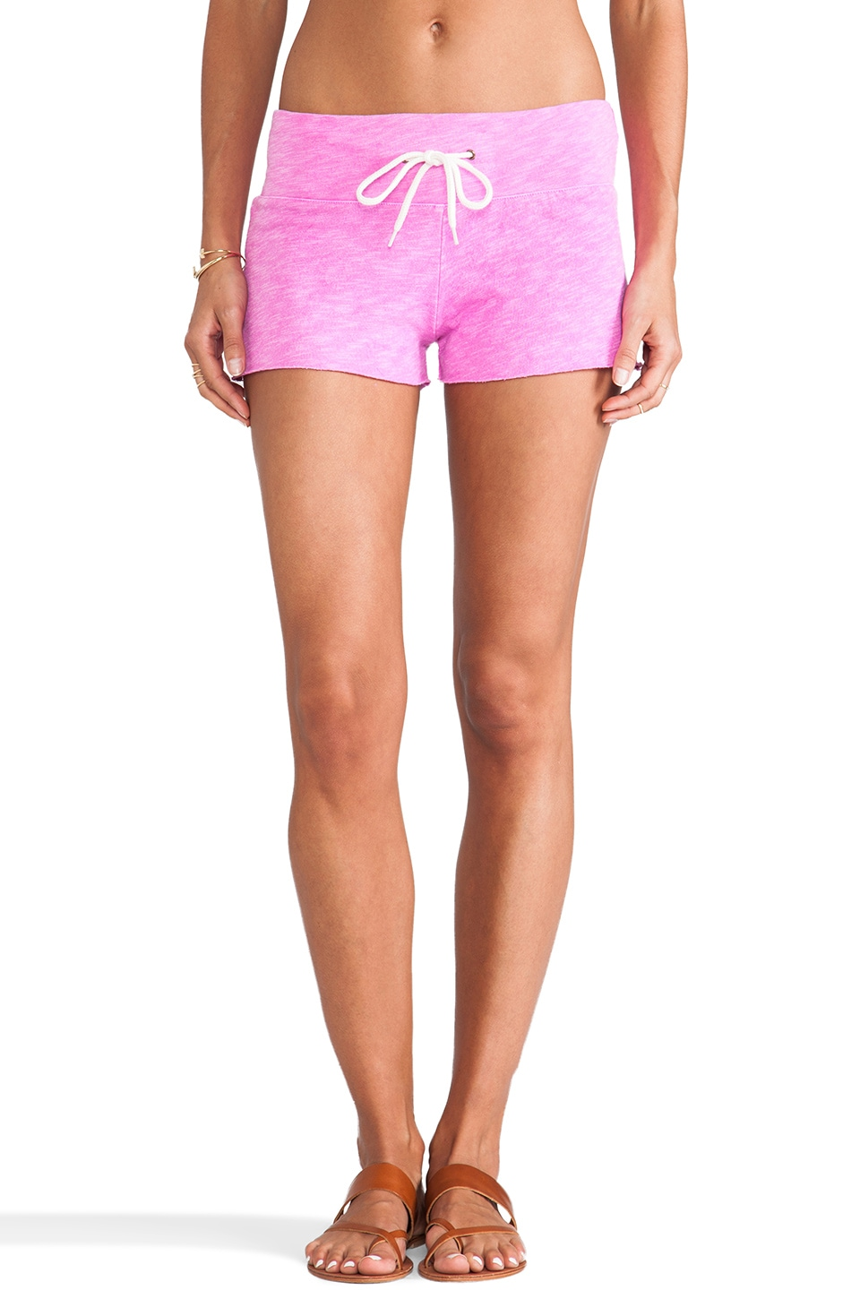 MONROW Shorts in Neon Magenta