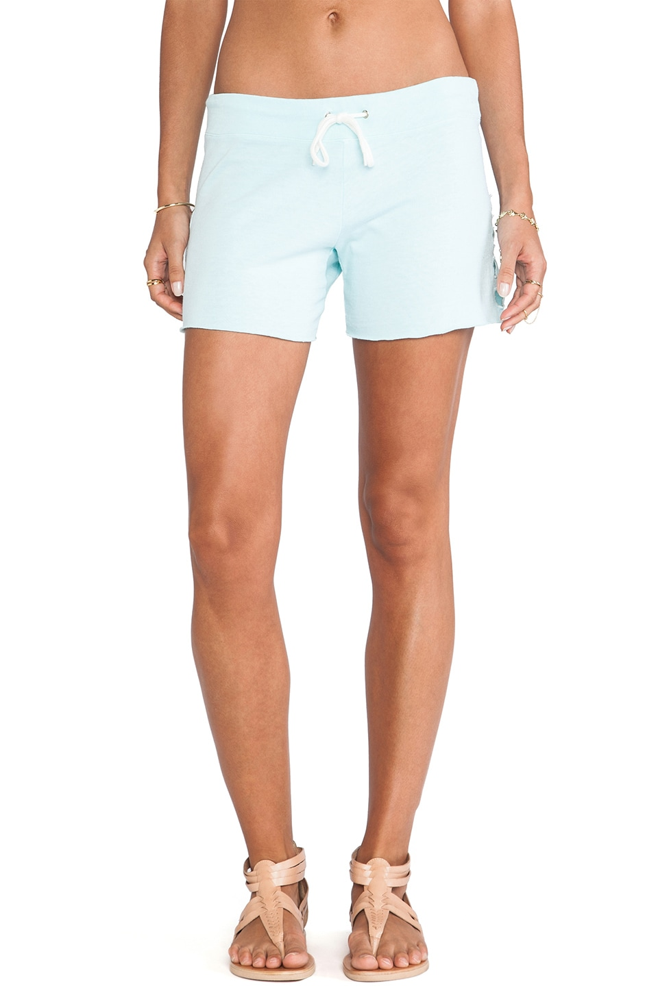 MONROW Vintage Wash Shorts in Mist