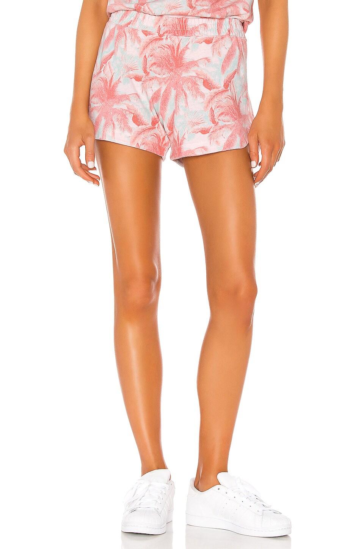 MONROW Palm Lounge Shorts in Peach