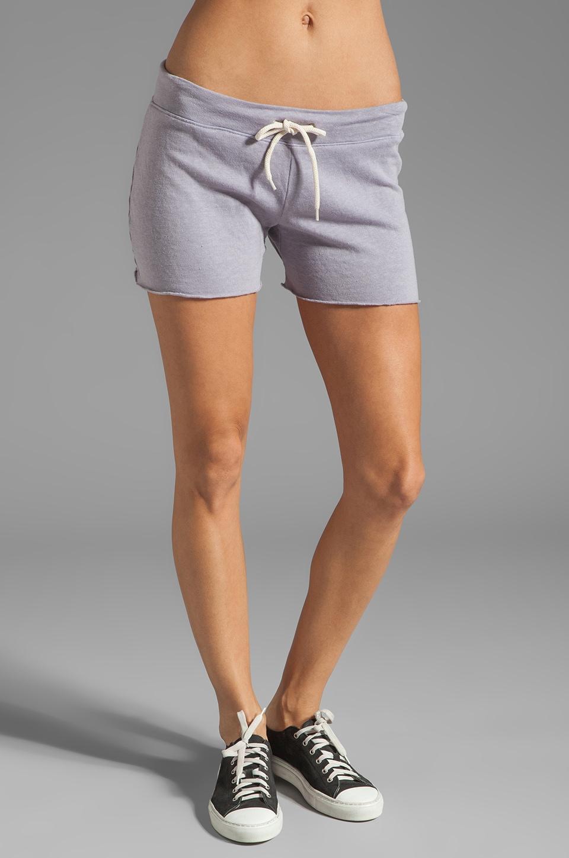 MONROW White Fleece Vintage Shorts in Purple Haze