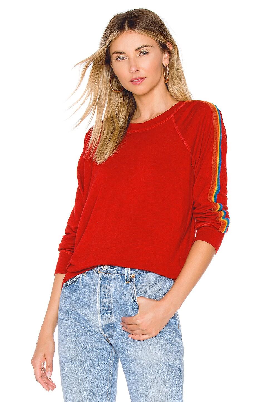 x REVOLVE Vintage Rainbow Stripe Raglan Sweatshirt