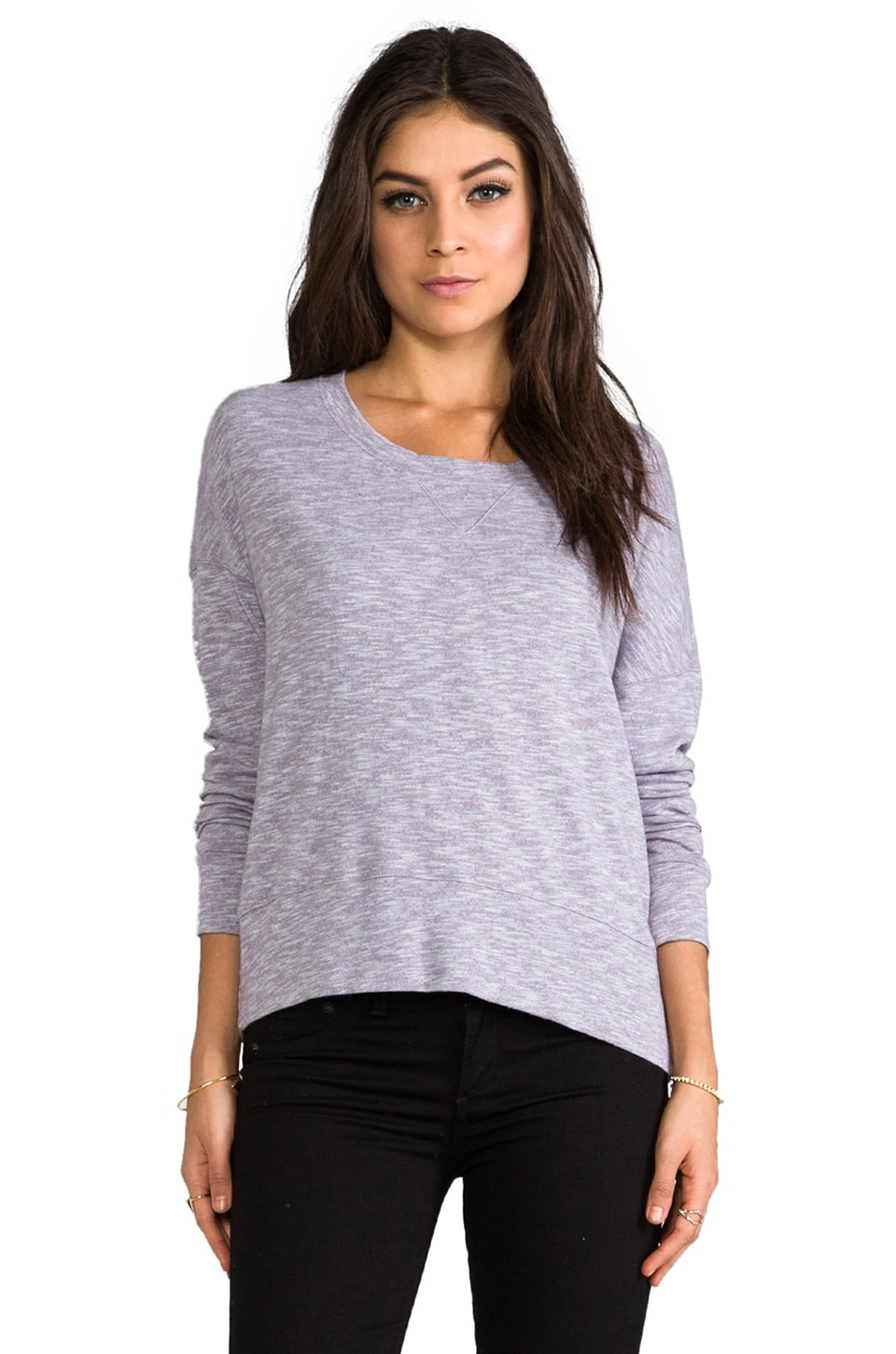 MONROW Slouchy Sweatshirt in Purple Haze
