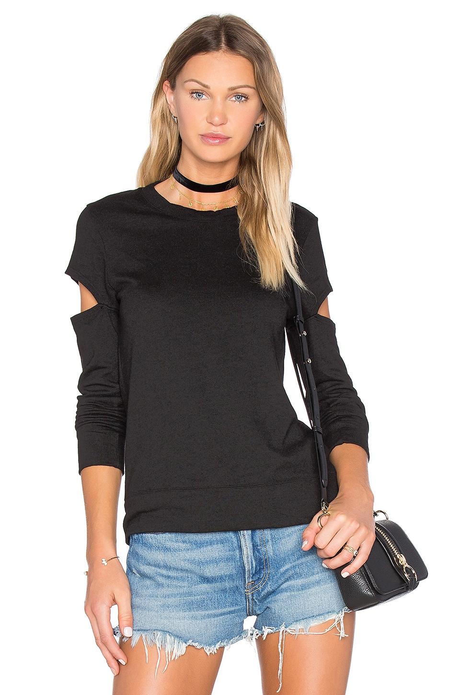 Heather Fleece Open Sleeve Sweatshirt by MONROW