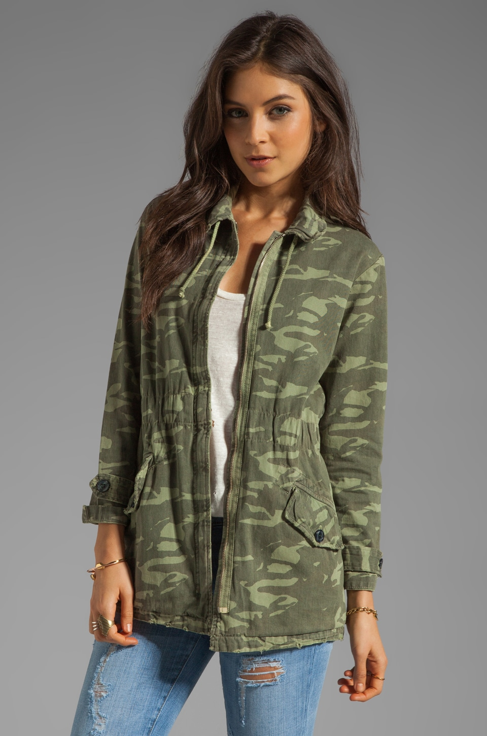 MONROW Camo Print Military Trench in Army