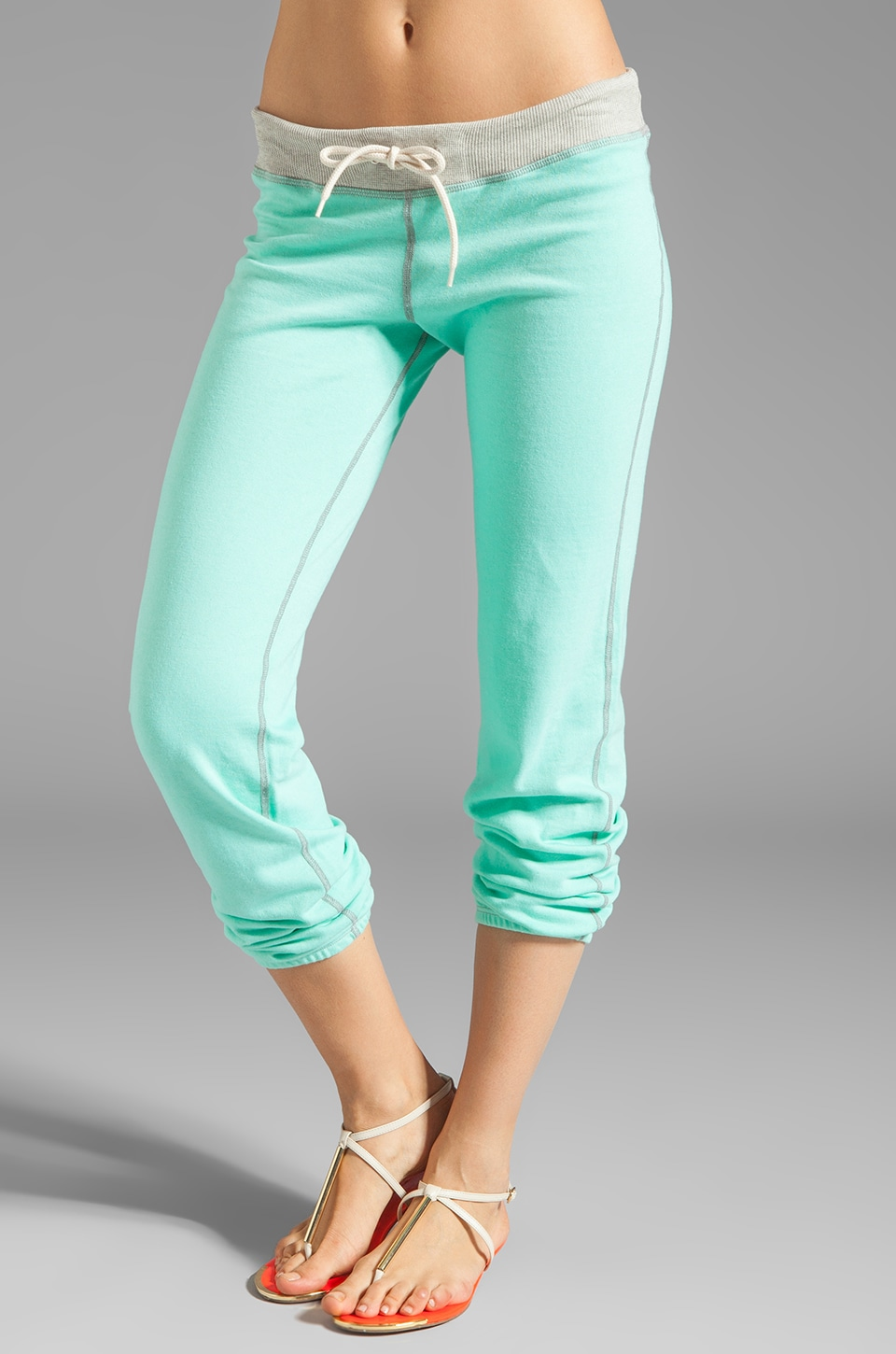 MONROW Vintage Sweatpants in Neon Mint