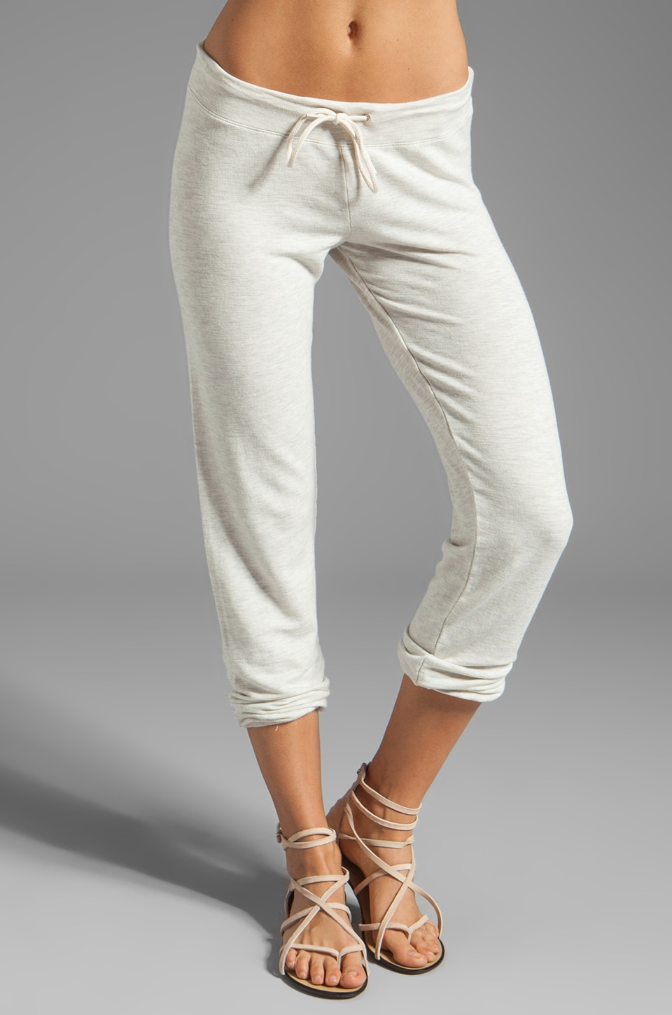 MONROW French Terry Super Soft Vintage Sweats in Ash