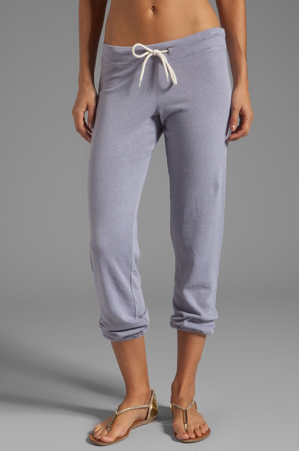 MONROW Vintage White Fleece Sweats in Opal