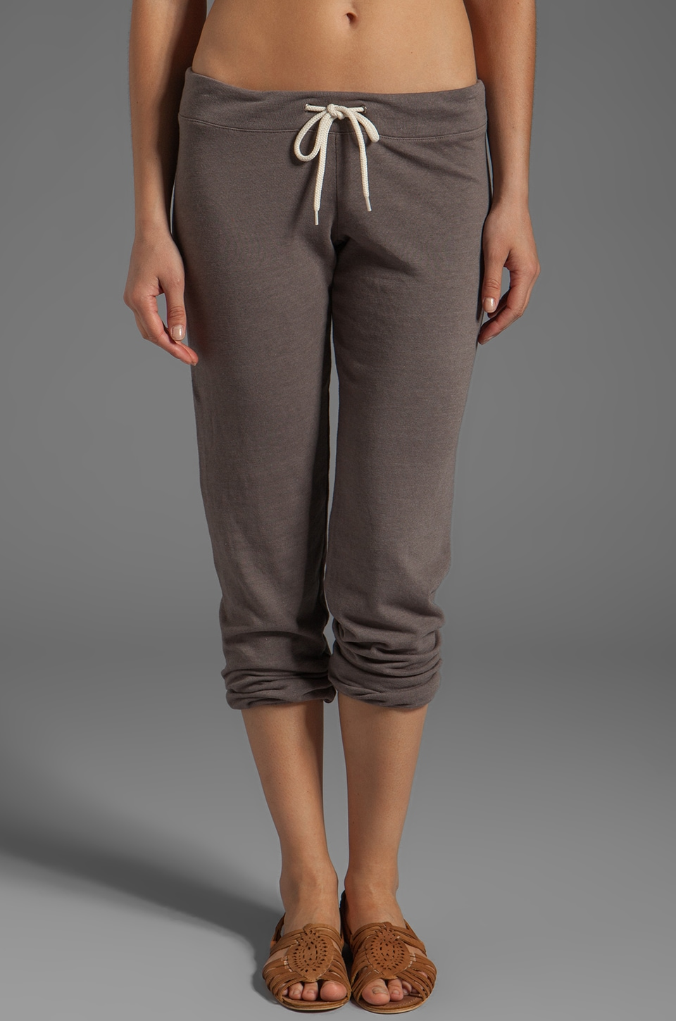 MONROW Vintage White Fleece Sweats in Dusk