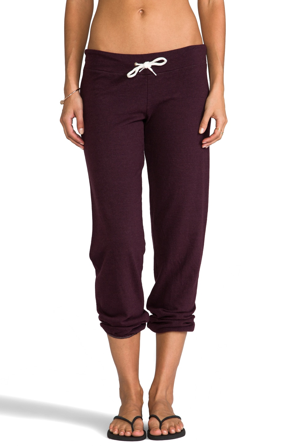MONROW Heather Fleece Vintage Sweats in Vamp