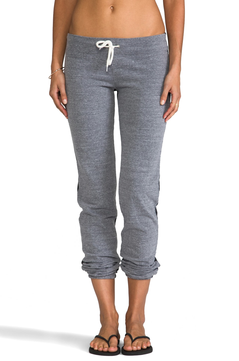 MONROW Half and Half Sweats in Dark Heather