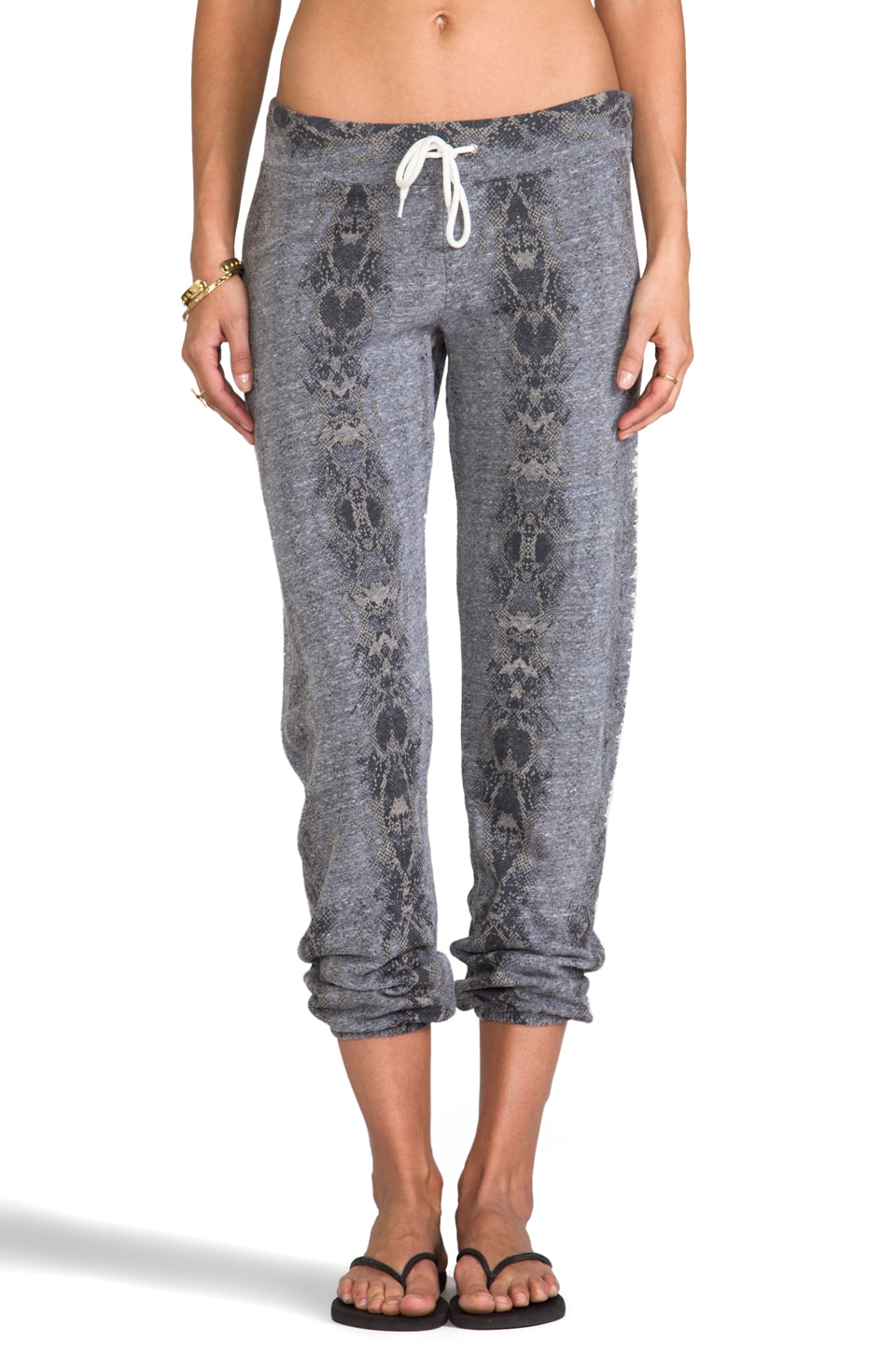 MONROW Snakeskin Vintage Sweats in Dark Heather