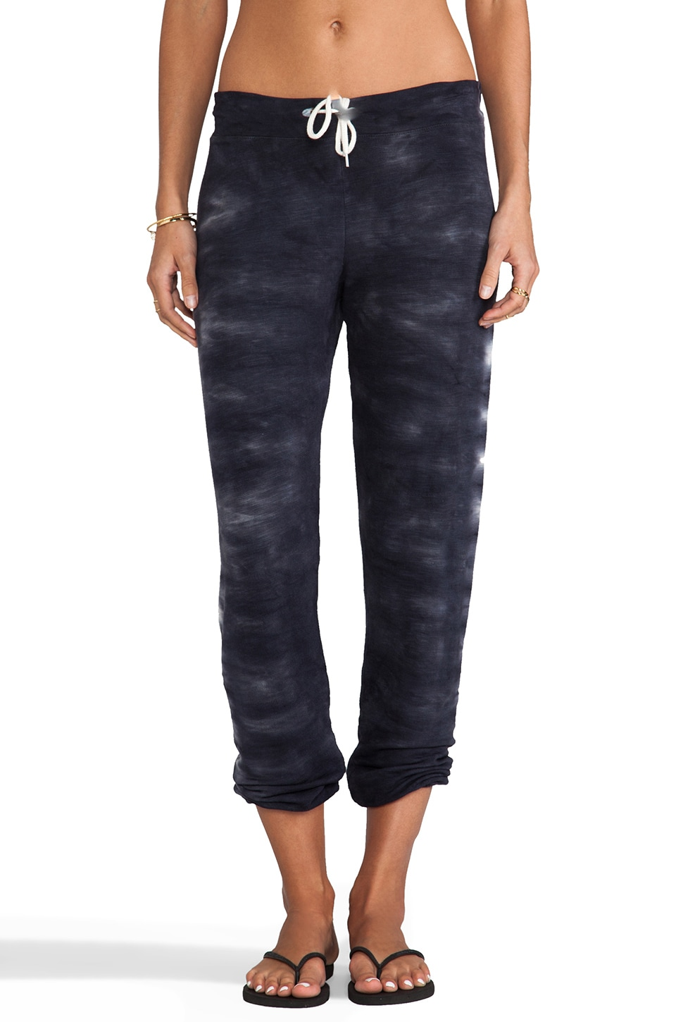 MONROW Fish Bone Tie Dye Sweats in Neptune