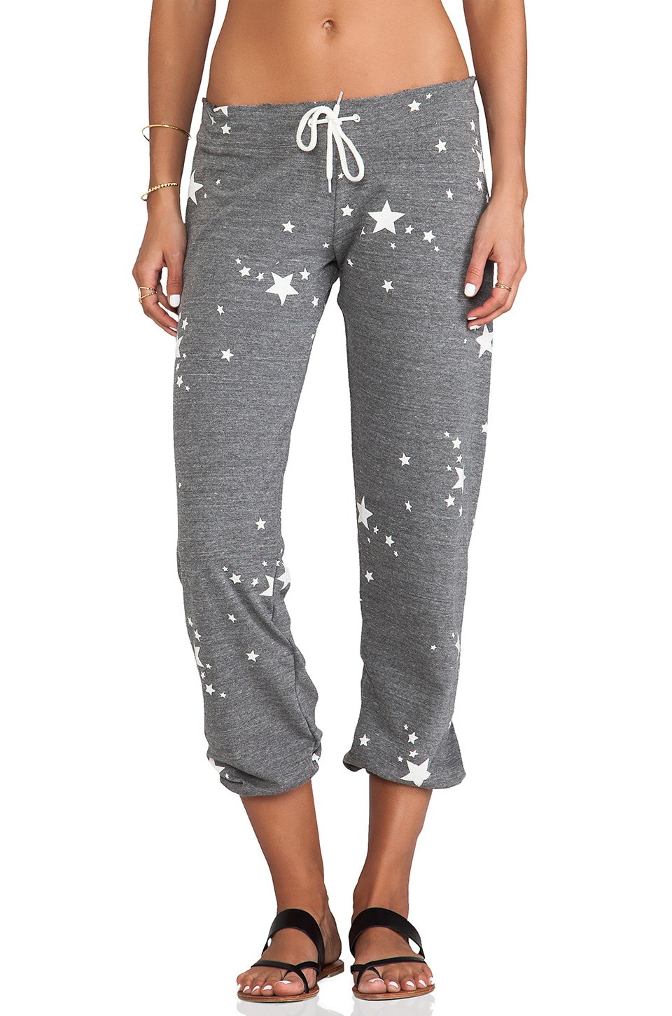 MONROW Stars Sweats in Dark Heather