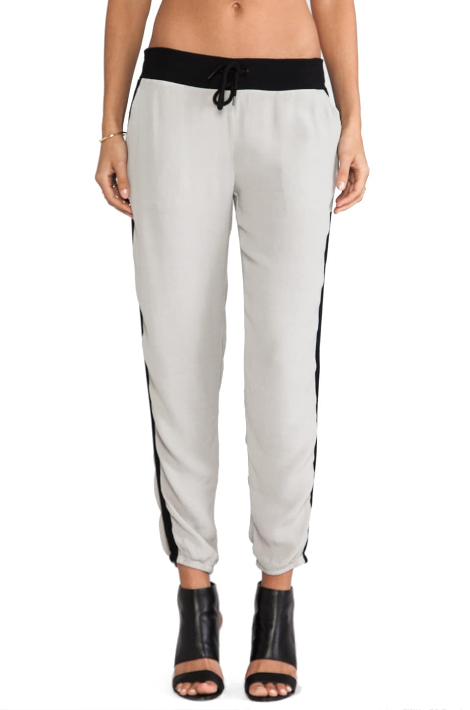 MONROW Crepe Track Pants in Linen