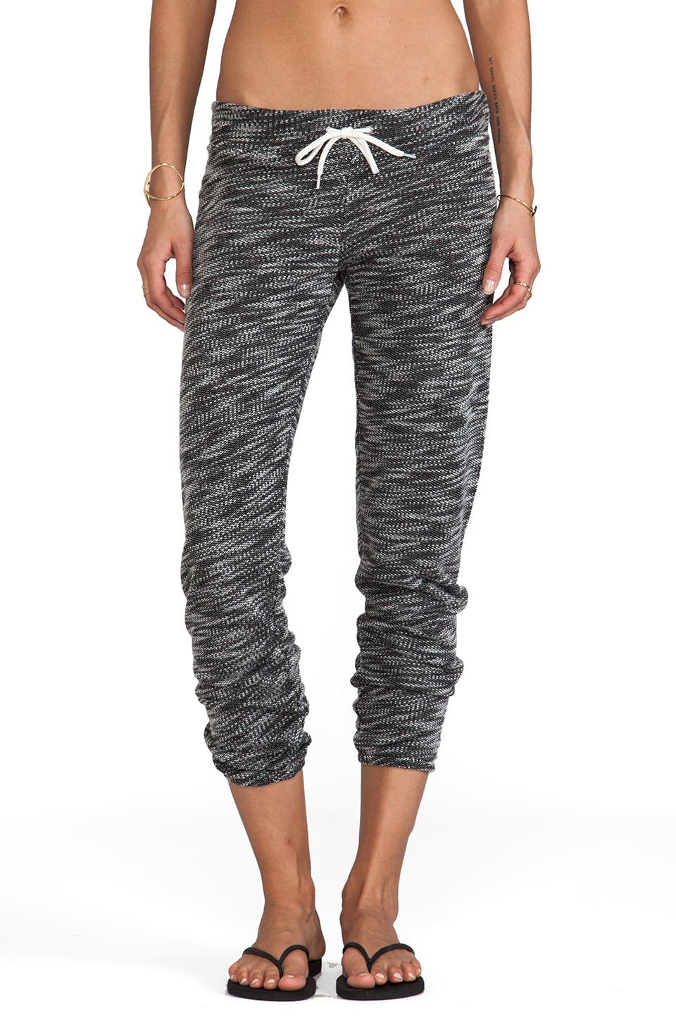 MONROW Luxe French Terry Sweats in Black